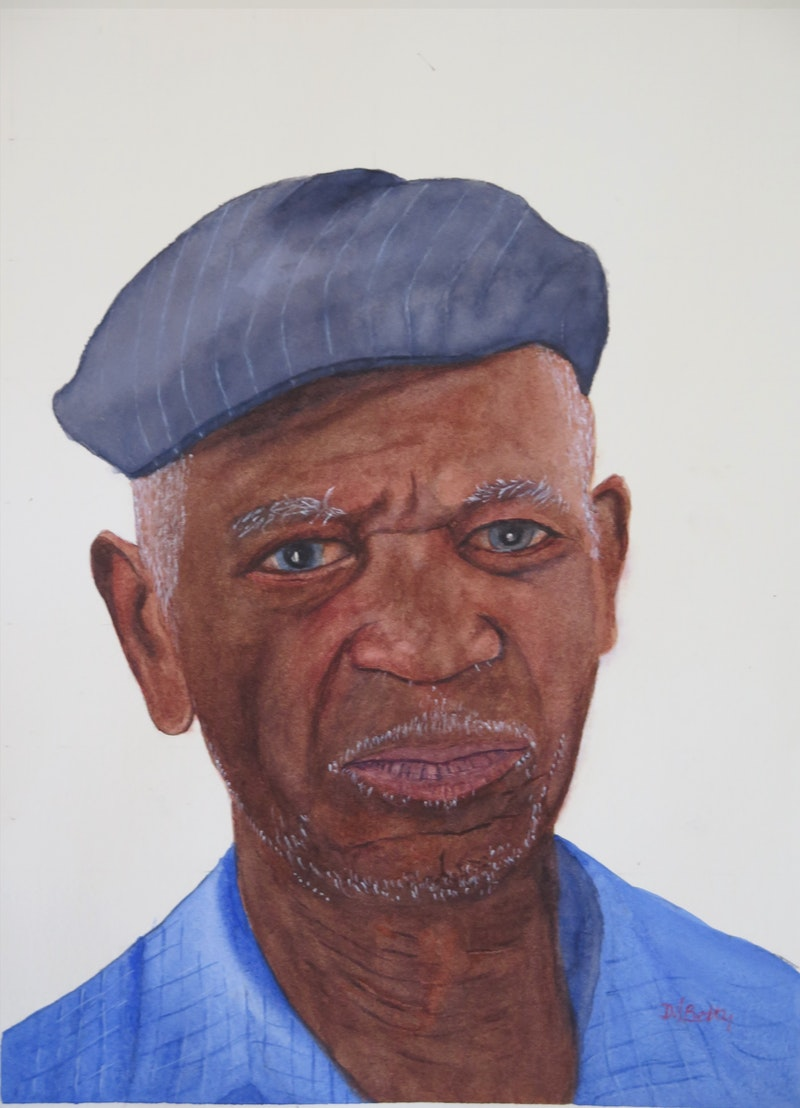 'I've seen it all', David Betty, Watercolour on paper, 38 x 28 cm