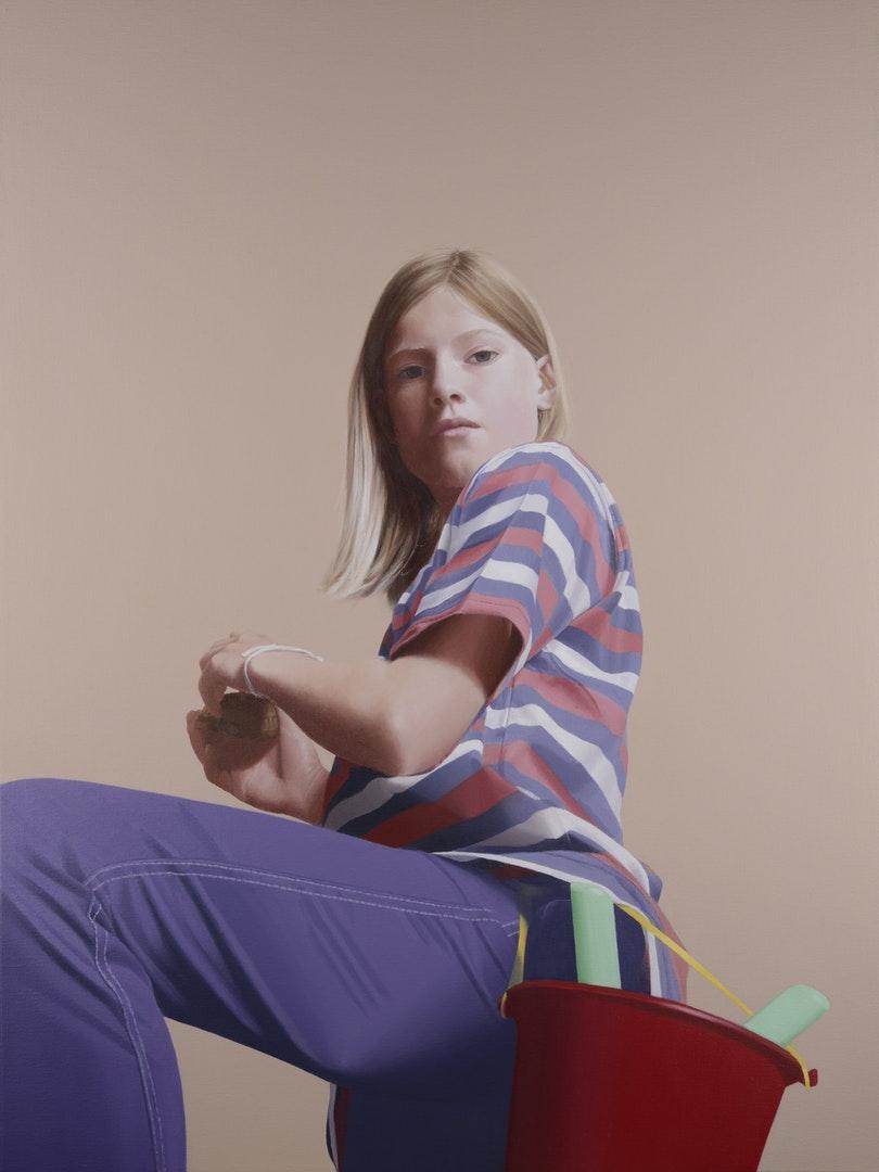 'Fin as Kate Wetherall', David Hamilton, Acrylic on linen, 109 x 62 cm