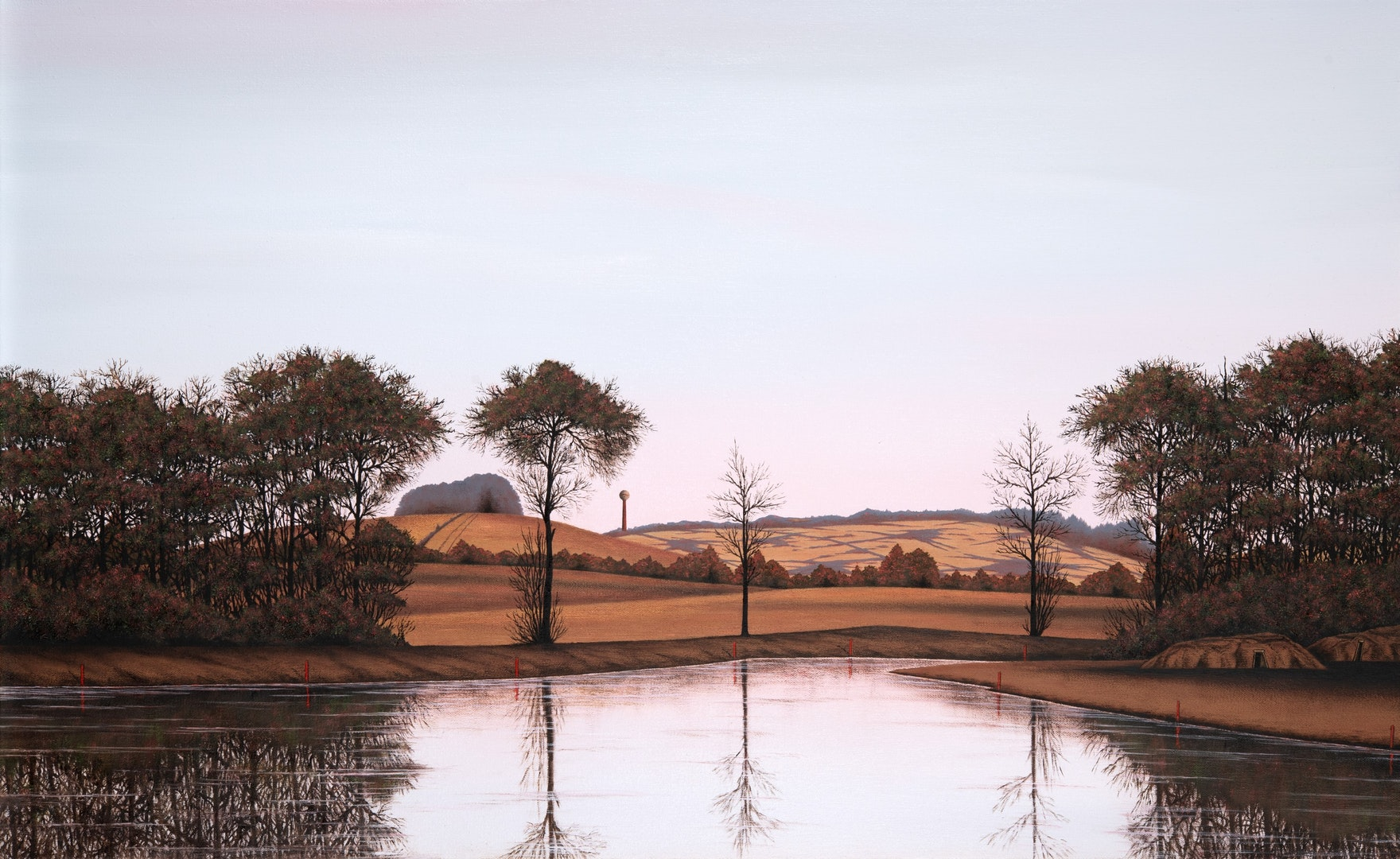 'Firestone 7', David Rae, Oil on canvas, 50 x 81 cm