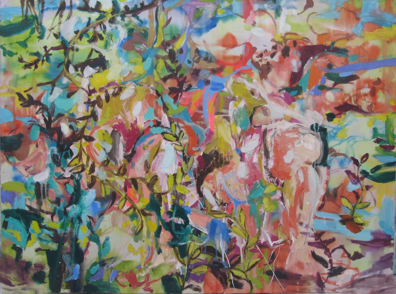 'ID Life Tapestries No 3', di Masternak di Masternak, Ink, watercolour, Oil on silk, 120 x 90 cm