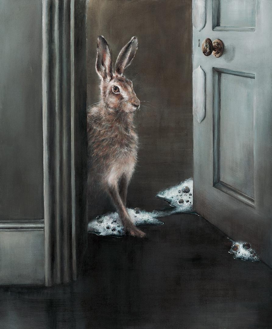 'Hare Hid Lather', Diane Bellamy, Acrylic on canvas, 91 x 76 cm