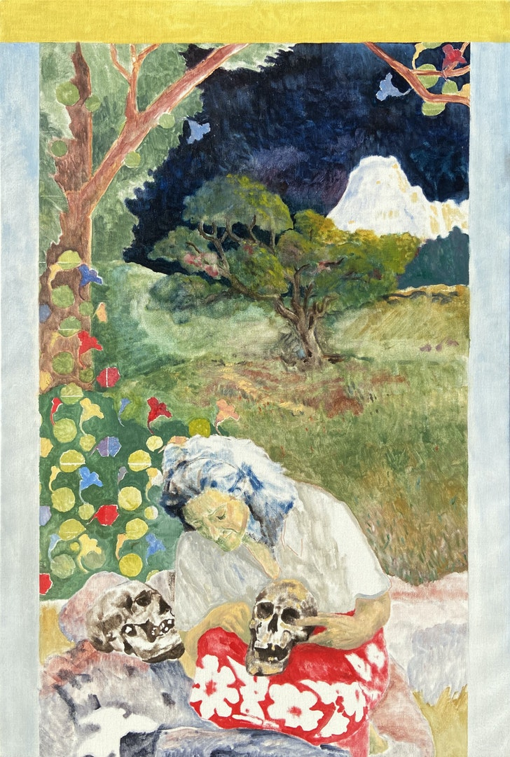 'Memento mori', Dieter Darquennes, Oil on linen, 85 x 125 cm