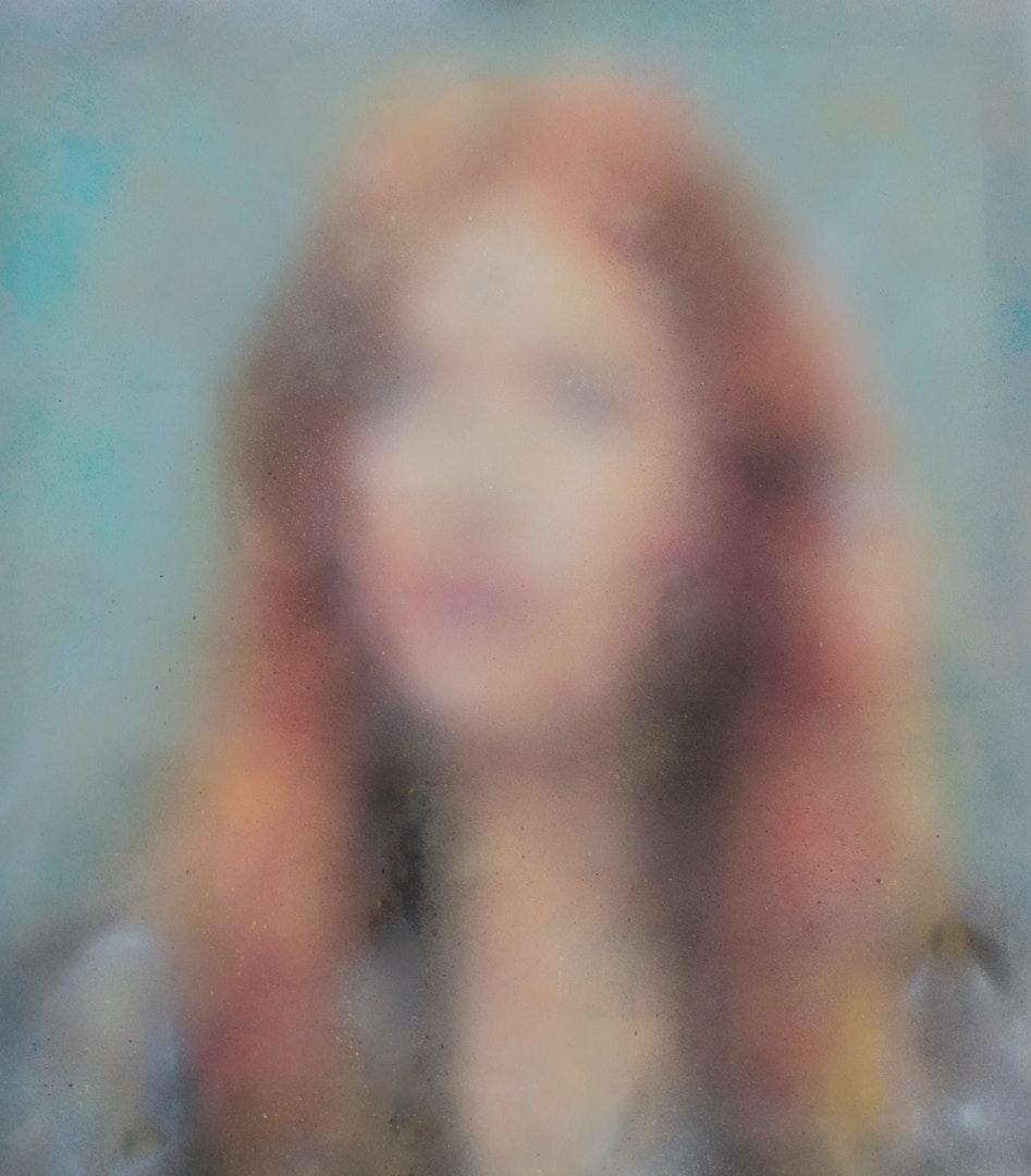 'Once, Nr.2', Eliana Marinari, Acrylic, spray paint and ink on canvas, 100 x 90 cm