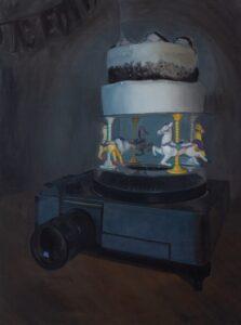 'Carousel', Elizabeth Saskia Langley, Oil on canvas, 143 x 107 cm