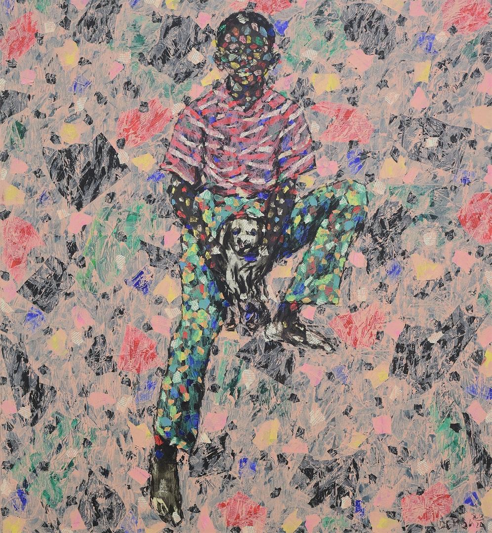 'Wonder Of The Beyond', Emeka Udemba, Mixed media on canvas, 130 x 120 cm