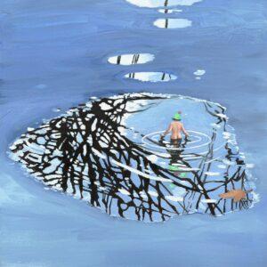 'Wallow', Emma Foss, Oil on board, 20 x 20 cm