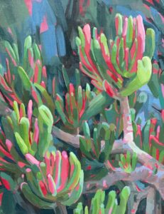 'Gollum Jade', Erin McCluskey, Oil on canvas Board, 27.94 x 35.56 cm