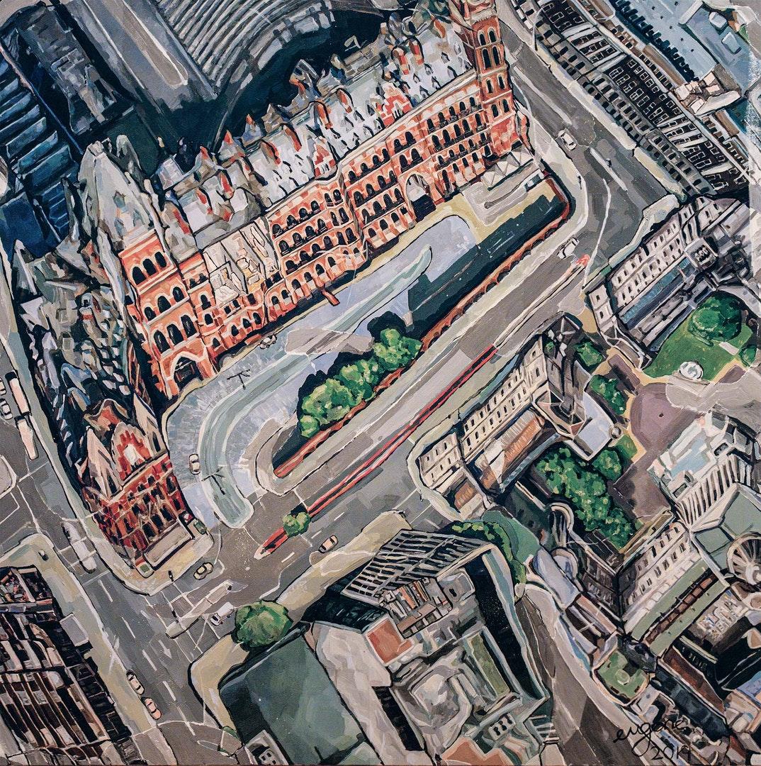 'Memory Square', Eugene Tan, Oil on canvas, 120 x 120 cm