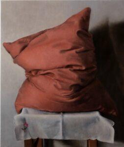 'Naked model', Ido Ben Bassat, Oil on panel, 60 x 50 cm