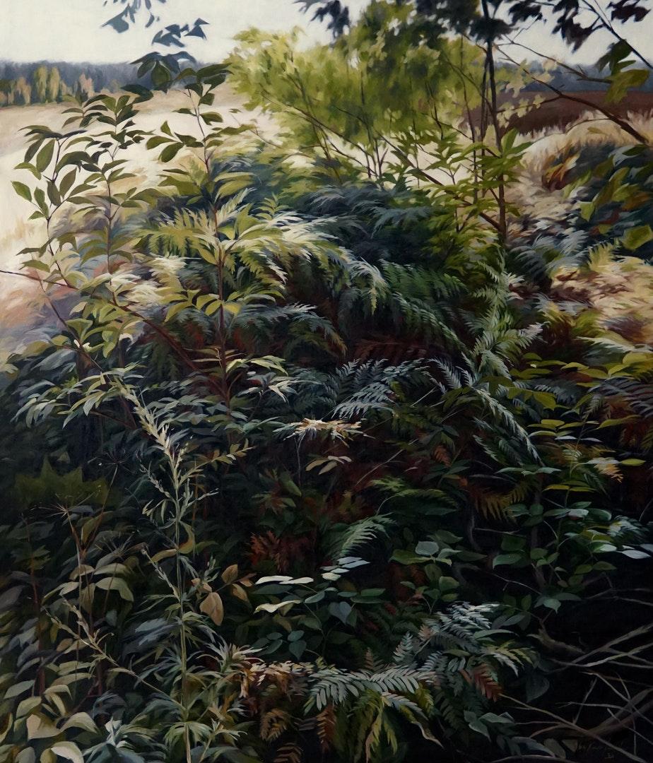 All the inexplicable', Ieva Kampe-Krumholca, Oil on linen, 150 x 130 cm