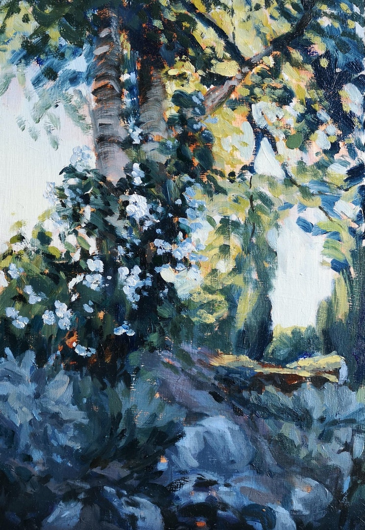 'The Old Pigeonnier', Jack Coleman, Oil on board, 48 x 33 cm