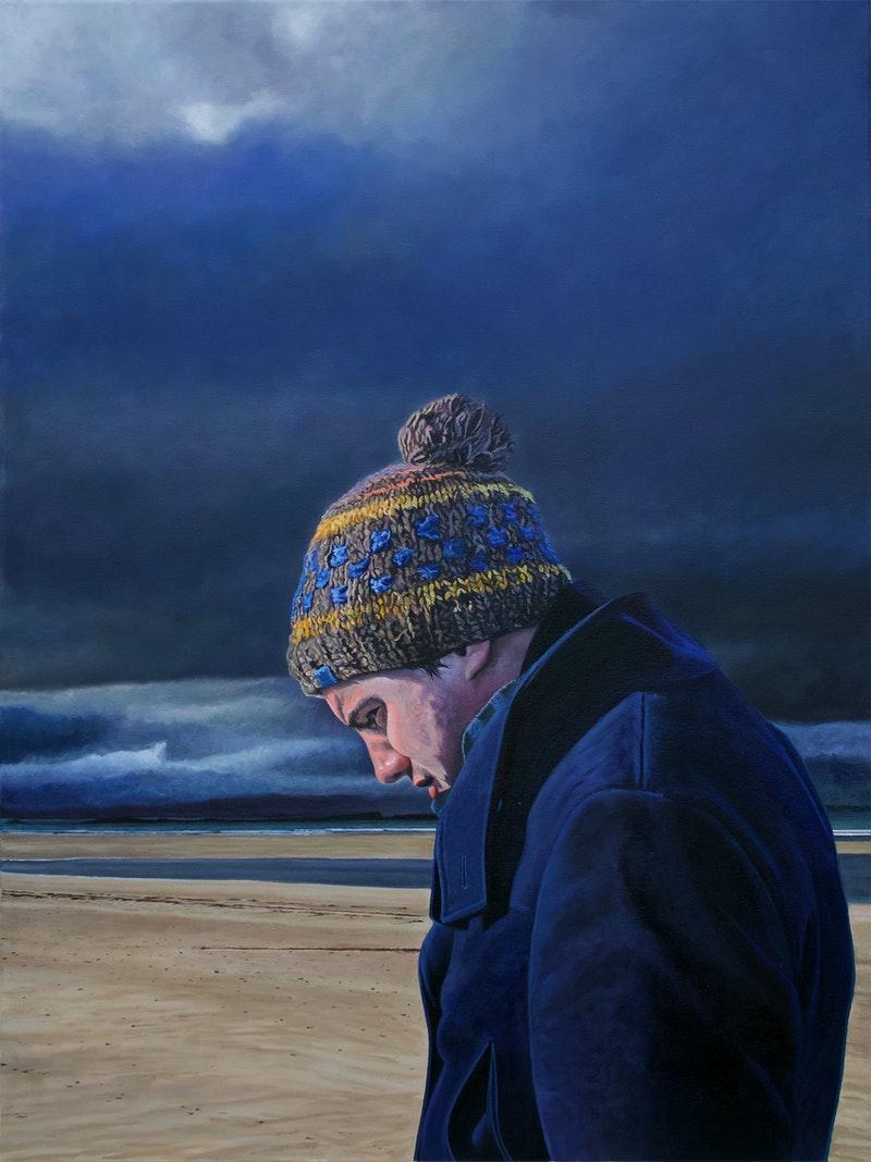 'Rigour', James Hayes, Oil on canvas, 101 x 76 cm
