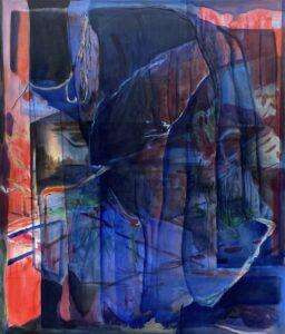 'Over Stranger Days (Blue Cloak)', Jan Valik, Oil on canvas, 160 x 135 cm
