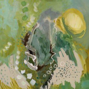 'Winter Sun', Janette Fry, Acrylic on board, 60 x 60 cm