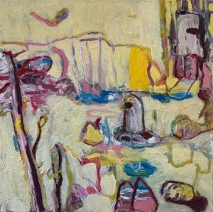 'Yellow Rock', Jason Gregory, Oil on linen, 36 x 36 cm