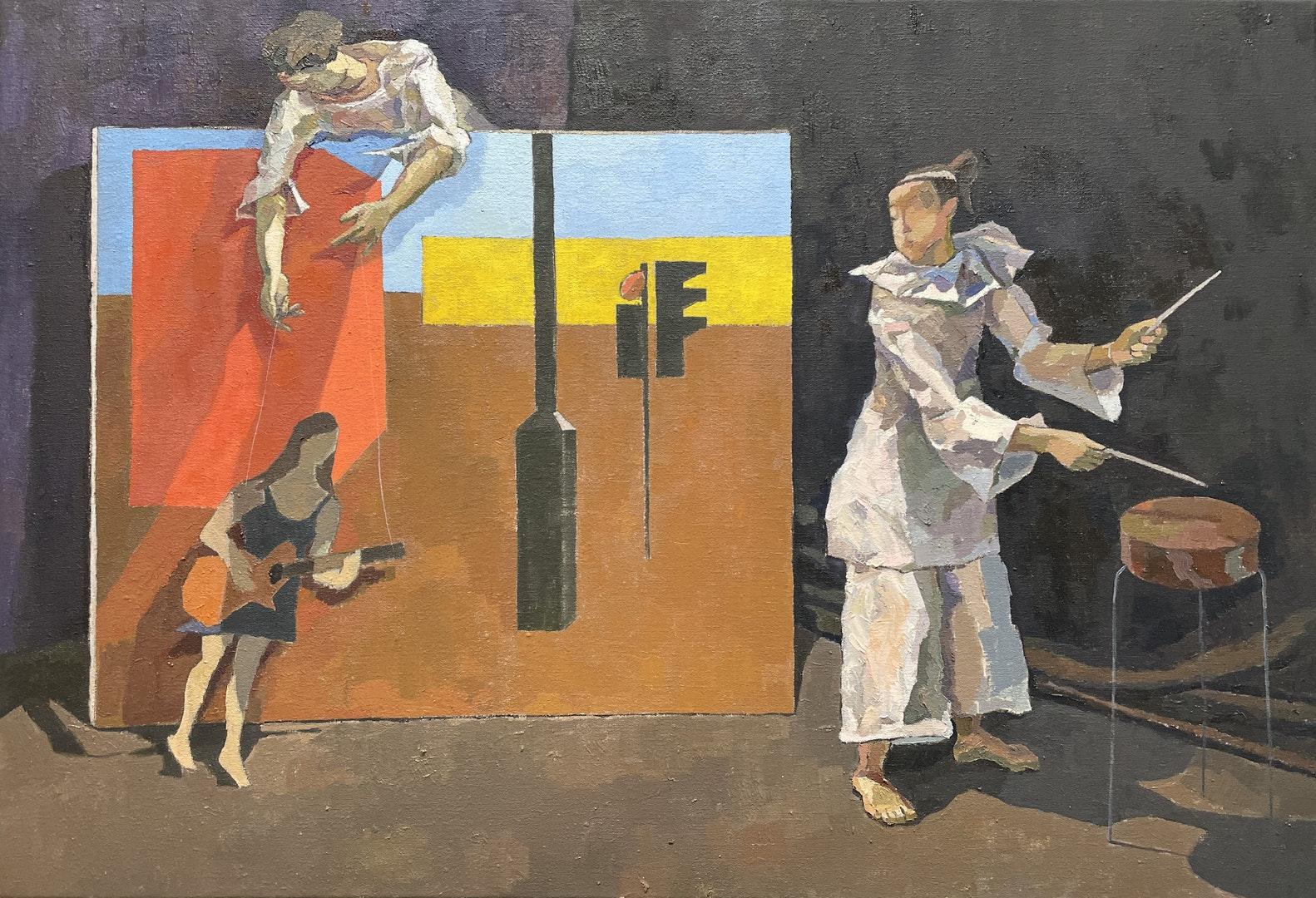 'Outside In', Johanna Zhang, Oil on linen, 56 x 82 cm