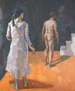 'The Captive', Johanna Zhang, Oil on linen, 56 x 46 cm