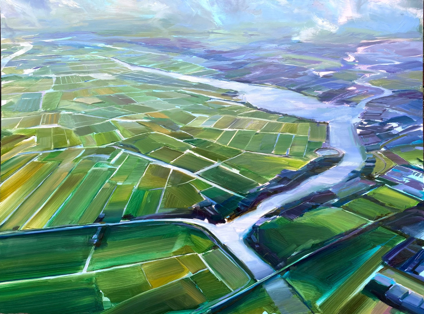 'Spaardam Landscape', Jonathan Hargreaves, Oil on panel, 90 x 122 cm
