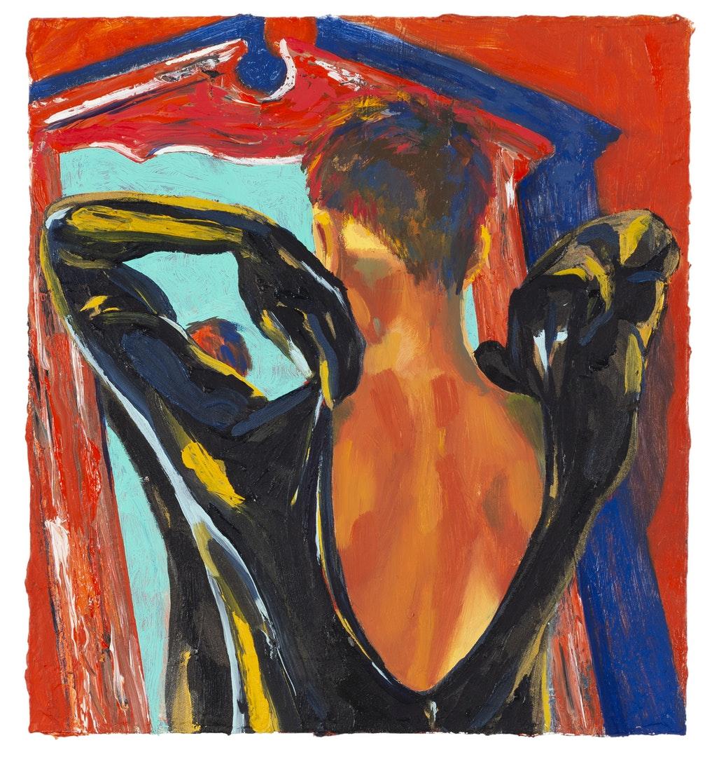 'Mirror', Jonathan Virginia Green, Oil on wood panel, 20 x 19 cm