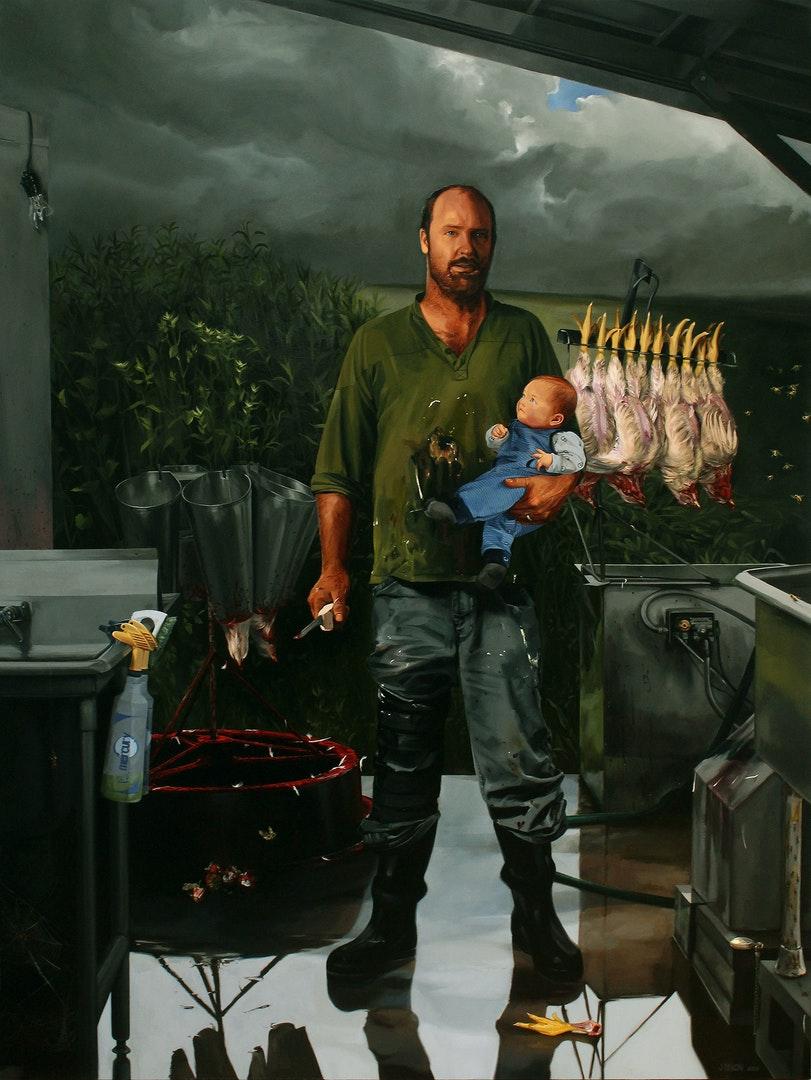 'Michael', Julia Dixon, Oil on canvas, 183 x 142 cm