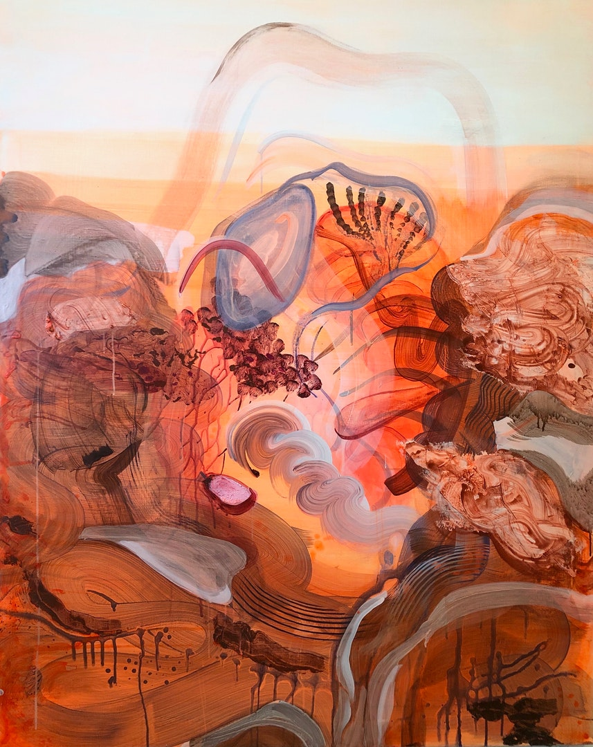 'Breathing in Unison', Justine Formentelli, Acrylic on canvas, 150 x 120 cm