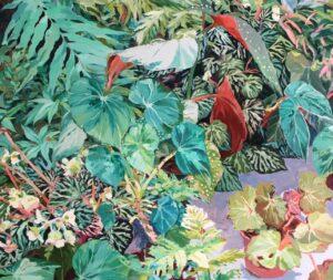 'Paradise garden I', Kata Maria Koleszar, Oil on canvas, 100 x 120 cm