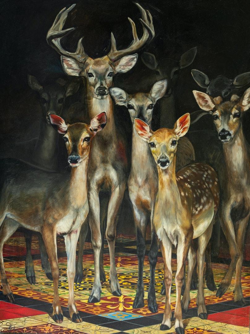 'The Secret', Koko Davlasheridze, Oil on canvas, 200 x 150 cm