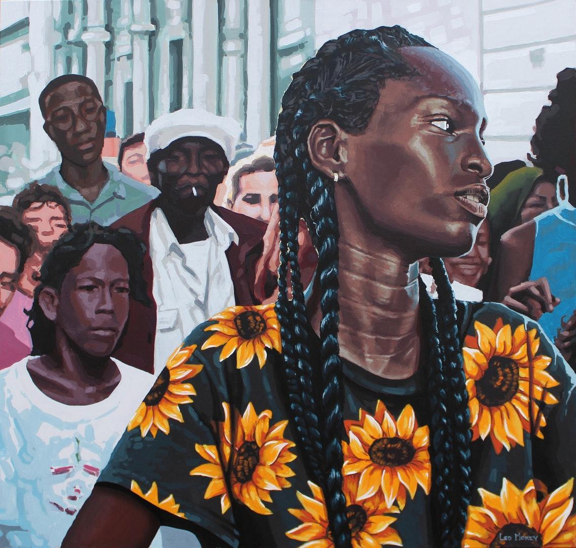 'Future', Leo Morey, Acrylic on canvas, 91 x 91 cm