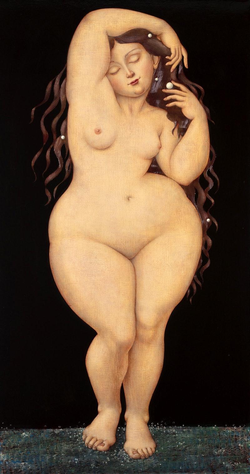 'Rose', Liga Kempe, Oil on linen, 150 x 80 cm