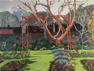 'Bare Trees in Winter', Lisa Hawkins, Oil on canvas, 45 x 60 cm