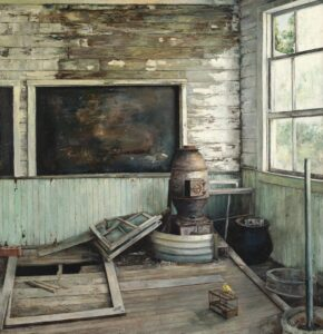 Mine No. 23', Livia Erwin, Oil on linen, 152 x 157 cm