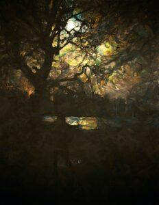 'Moonlight', Lucille Dweck, Oil on linen, 153 x 122 cm
