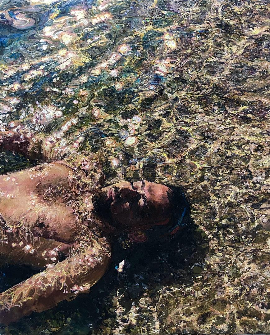 'Son Sparkles', Lucille Dweck, Oil on linen, 81 x 66 cm