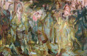 'Flora's Gaze', Lucy Threlfall, Oil on canvas, 70 x 50 cm