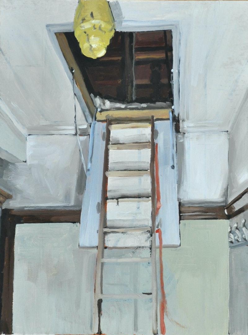 'Ascension', Ludvig Sjödin, Oil on plywood, 41 x 31 cm