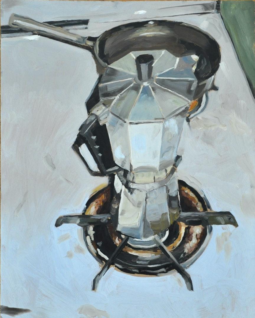 'Kahvi', Ludvig Sjödin, Oil on masonite, 43 x 34 cm