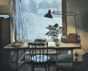 Lidmans stationary', Ludvig Sjödin, Oil on canvas, 60 x 73 cm