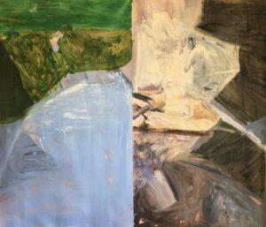 Presence (division bells)', Luis Lopez del castillo, Oil on canvas, 160 x 185 cm