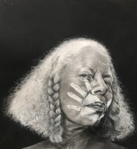 'Still I Rise', Margie Andrew-Reichelt, Soft pastel and charcoal on white Fabriano paper, 90 x 80 cm