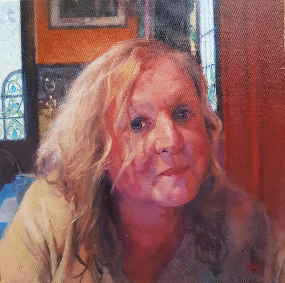 'Gina', Martyn Harris, Oils, 30 x 30 cm