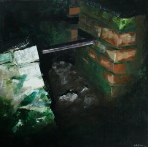 Night Stile', Mary Low, Acrylic on panel, 40 x 40 cm