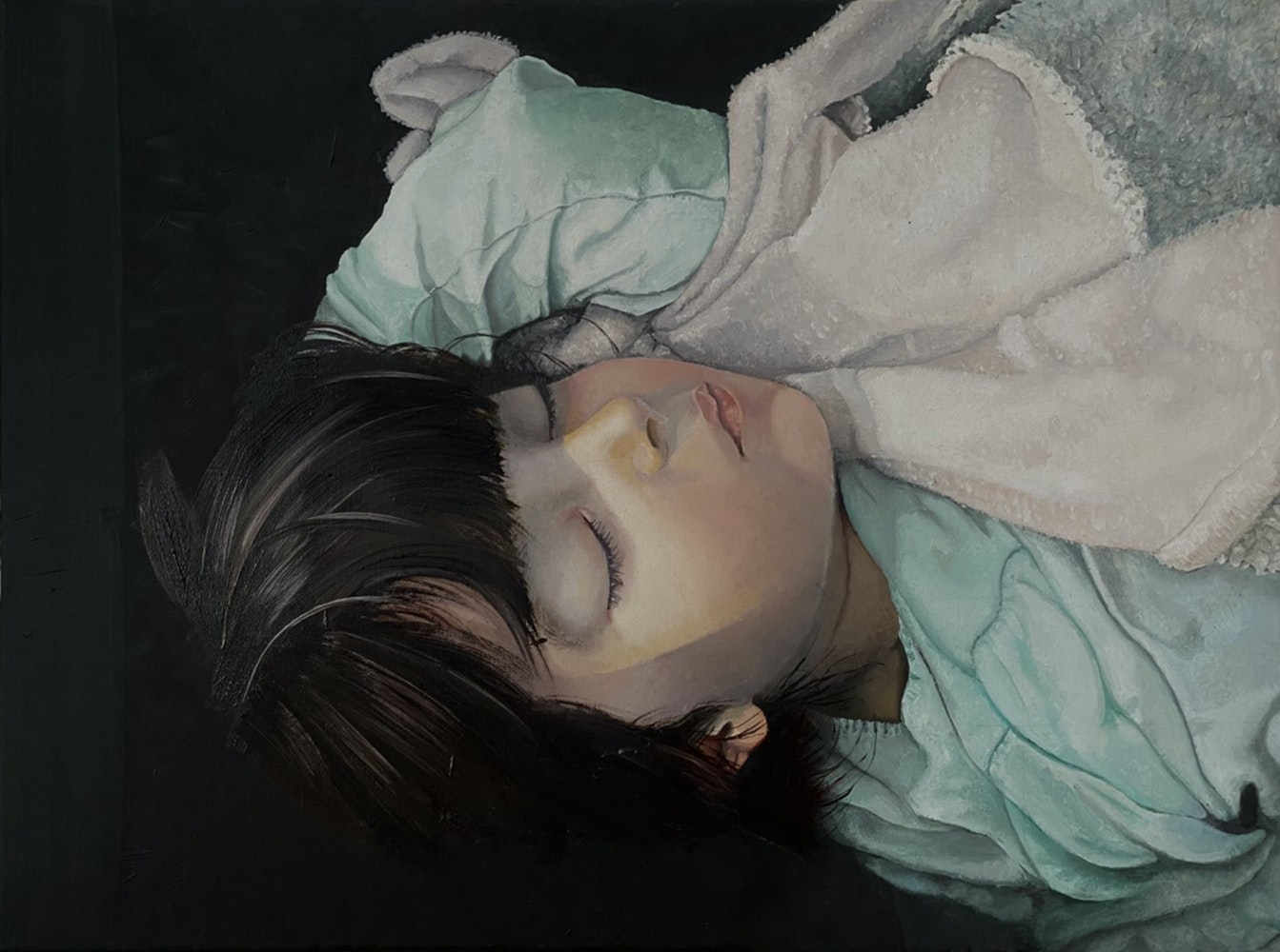 'The Unicorn Ride', Mauro Affronti, Oil on canvas, 45 x 61 cm