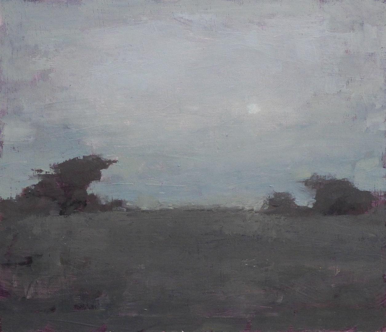 'Harmony In Grey', Max White, Oil on panel, 15 x 20 cm