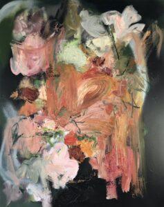 'After Rachel I', Miranda Boulton, Oil and Acrylic Spray paint on canvas, 76 x 61 cm