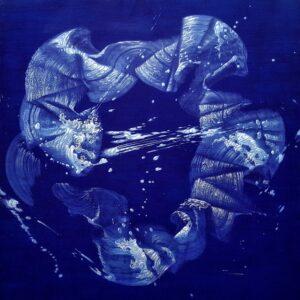 Journey of Mind', Nattanon Baiphowongse, Acrylic and grease pencil on canvas, 70 x 70 cm