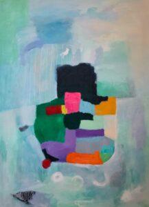 'Foundations', Olga Evenden, Acrylic on canvas, 90 x 65 cm