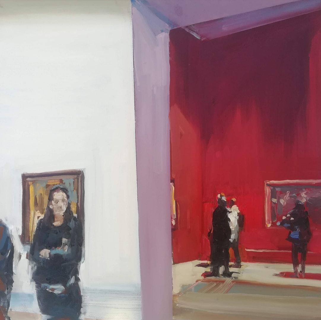 'Ensemble xi', Philip Tyler, Oil on board, 40 x 40 cm
