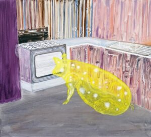 'Domestic Bliss 2020', Phillip Reeves, Oil on aluminium panel, 80 x 110 cm