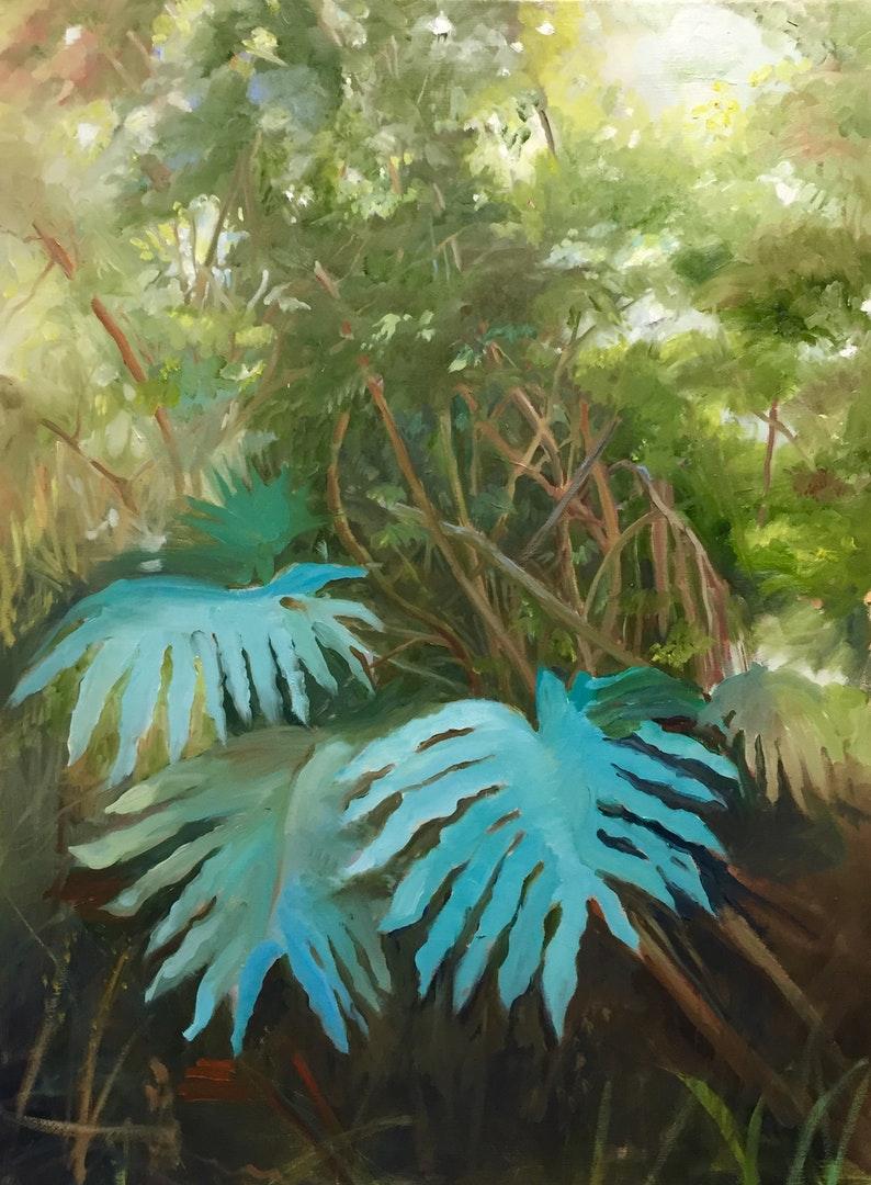 'Light Through the Forest', Podi Lawrence, Oil , 61 x 51 cm