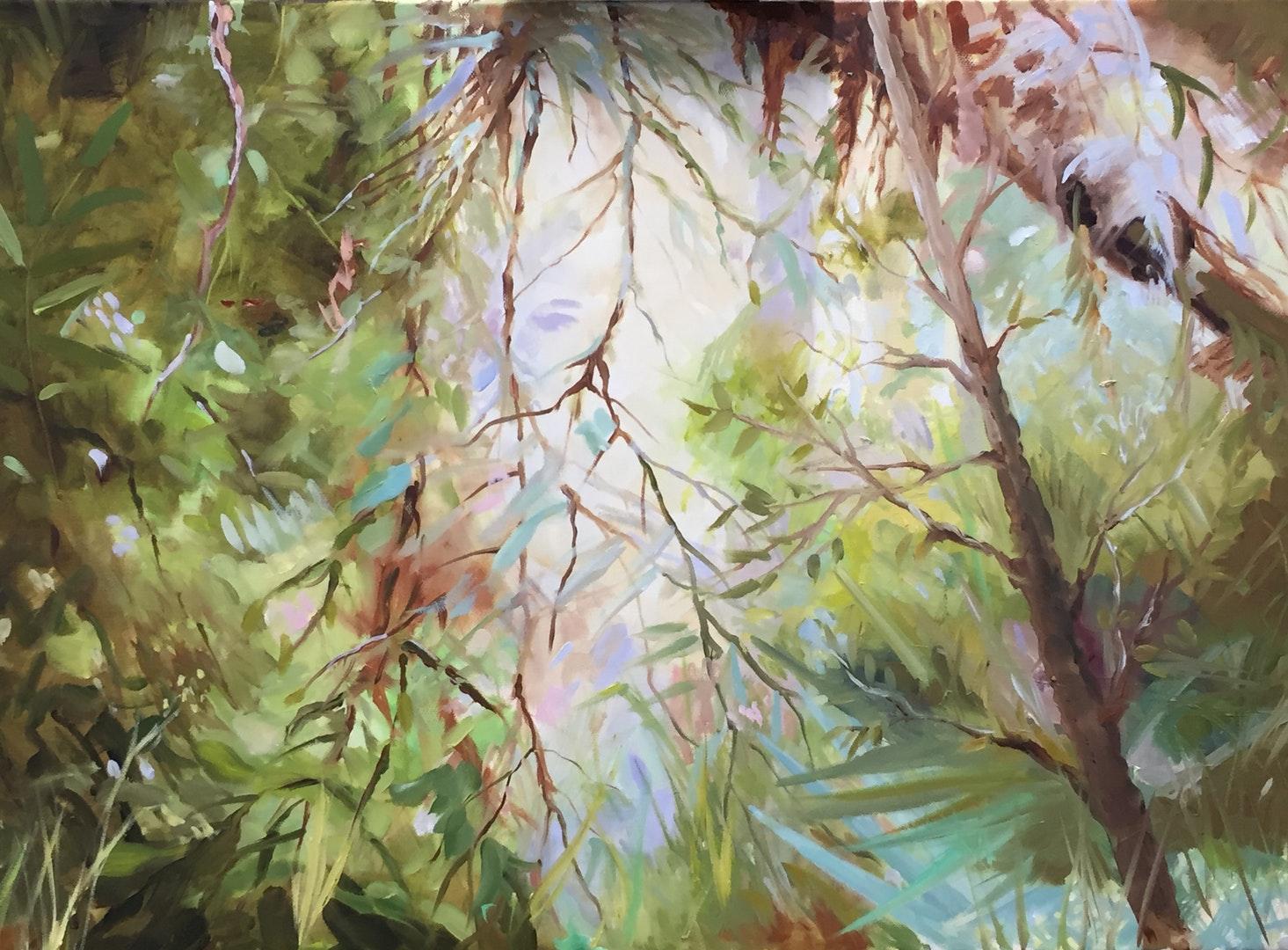'Tropical Light', Podi Lawrence, Oil on canvas, 51 x 61 cm